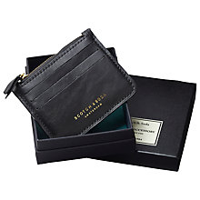 Buy Scorth & Soda Leather Credit Card Holder, Black Online at johnlewis.com