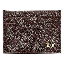Buy Fred Perry Scotch Grain Credit Card Holder, Brown Online at johnlewis.com