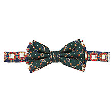 Buy Scotch & Soda Pattern Bow Tie, Green Online at johnlewis.com