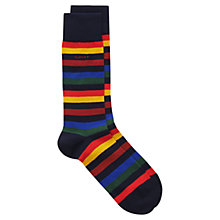 Buy Gant Wide Multi Stripe Socks, Dark Blue, One Size Online at johnlewis.com