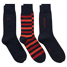 Buy Gant Cotton Blend Socks, Pack of 3, Dark Blue, One Size Online at johnlewis.com
