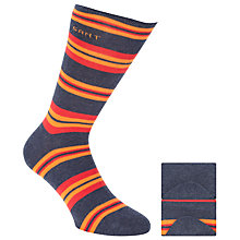 Buy Gant Stripe Socks, Box of 2, One Size, Dark Blue/Orange/Red Online at johnlewis.com