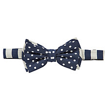 Buy Scotch & Soda Spotty Stripe Bow Tie, Navy Online at johnlewis.com