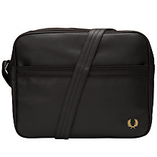 Buy Fred Perry Scotch Grain Shoulder Bag, Black Online at johnlewis.com