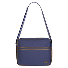 Buy Fred Perry Canvas Shoulder Bag, Blue Online at johnlewis.com