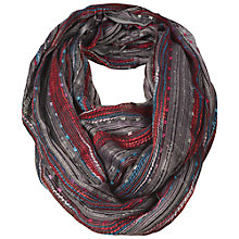 Buy Fat Face Festival Snood, Charcoal Online at johnlewis.com