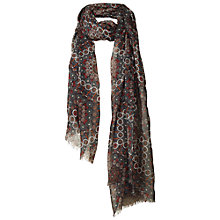 Buy Fat Face Circle Flower Scarf, Phantom Online at johnlewis.com