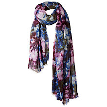 Buy Fat Face Photo Floral Scarf, Purple Online at johnlewis.com