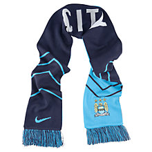 Buy Nike Manchester City Supporters' Scarf, Sky Blue/Navy Online at johnlewis.com