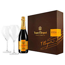 Buy Veuve Clicquot 2004 Vintage Reserve Champagne and Glass Set, 75cl Online at johnlewis.com