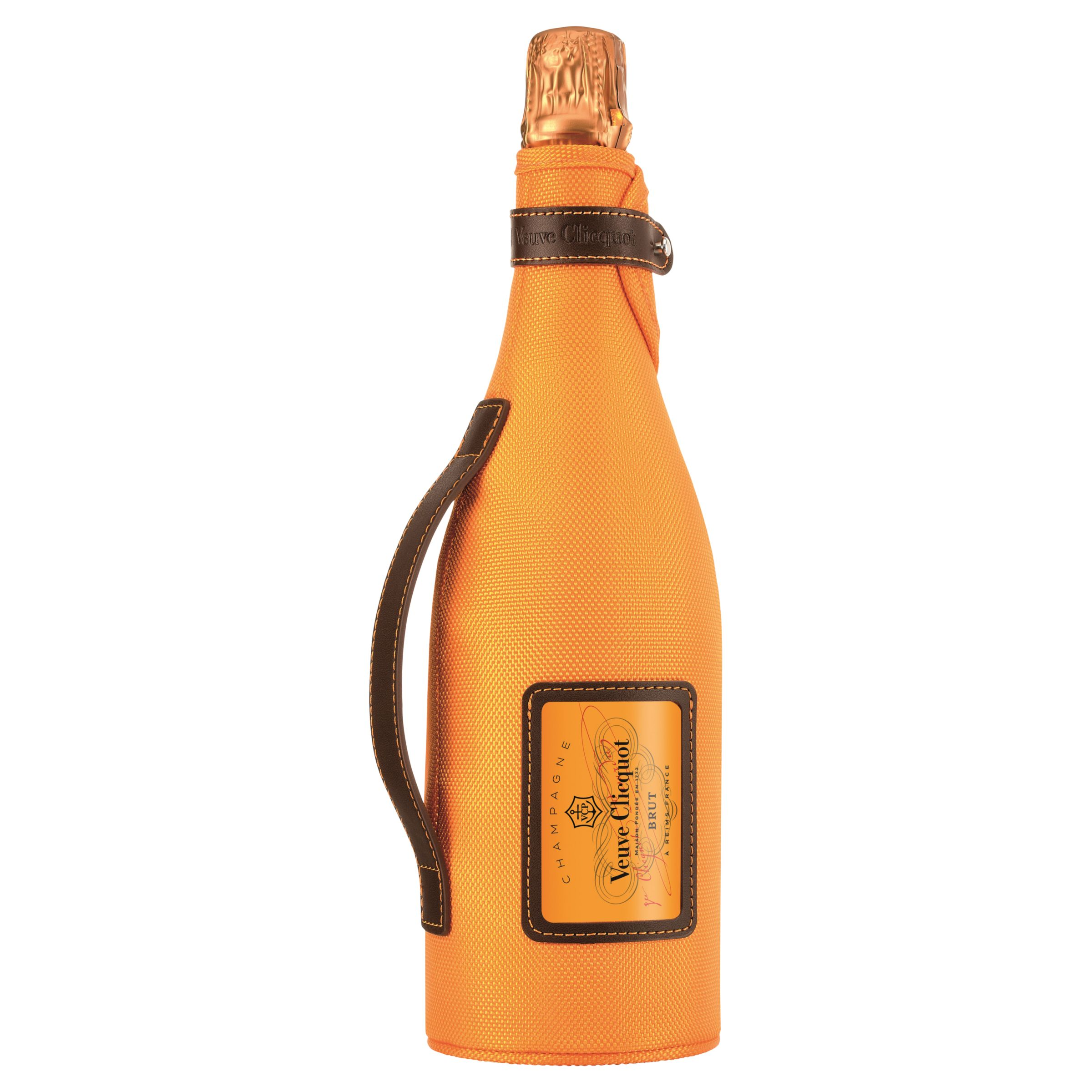 Veuve clicquot yellow label nv champagne with ice jacket carry pack