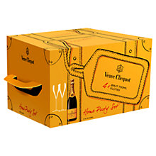Buy Veuve Clicquot Yellow Label NV 4 Bottles and 4 Glasses Gift Box, 300cl Online at johnlewis.com