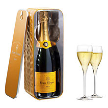 Buy Veuve Clicquot Yellow Label NV Champagne and Metal Sardine Tin, 75cl Online at johnlewis.com