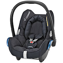 Buy Maxi-Cosi Cabriofix Infant Carrier, Total Black Online at johnlewis.com