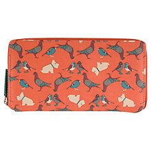 Buy Radley Large Flapover Matinee Leather Purse, Orange Online at johnlewis.com