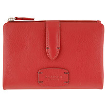 Buy Radley Medium Tab Leather Wallet Purse, Red Online at johnlewis.com