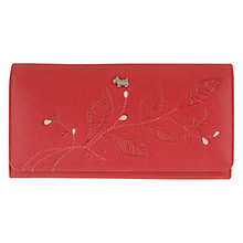 Buy Radley A Little Bird Told Me Large Leather Matinee Leaf Purse, Red Online at johnlewis.com