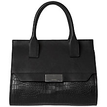 Buy Calvin Klein Taylor Leather Tote Bag, Black Online at johnlewis.com
