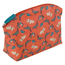 Buy Radley A Little Bird Told Me Medium Cosmetic Case, Orange Online at johnlewis.com