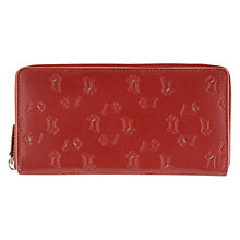 Buy Radley Large Zip Matinee Leather Purse, Red Online at johnlewis.com