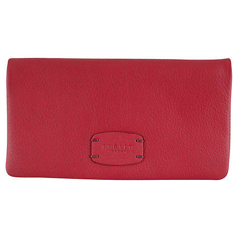 Buy Radley Cirencester Leather Matinee Purse, Red Online at johnlewis.com