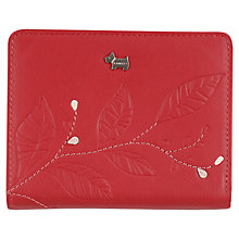 Buy Radley Medium Tab Leaf Leather Wallet Purse, Red Online at johnlewis.com