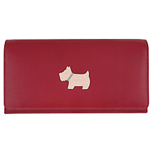 Buy Radley Heritage Dog Large Flap Over Leather Matinee Purse, Red Online at johnlewis.com