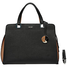 Buy Calvin Klein Sofie Large Leather Duffle Bag, Black Online at johnlewis.com