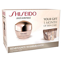 Buy Shiseido Benefiance WrinkleResist24 Day Cream Set Online at johnlewis.com