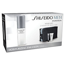 Buy Shiseido Men's Moisture Emulsion Set Online at johnlewis.com