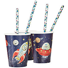 Buy Ginger Ray Space Paper Cups, Pack of 8 Online at johnlewis.com