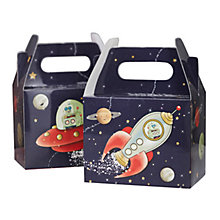 Buy Ginger Ray Space Party Boxes, Pack of 5 Online at johnlewis.com
