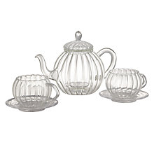 Buy John Lewis Glass Teapot, Teacup and Saucer Set Online at johnlewis.com