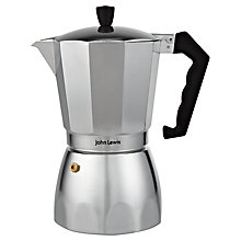 Buy John Lewis Silver Espresso Maker, Silver Online at johnlewis.com