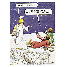 Buy Wit & Wisdom All Over Twitter Christmas Card Online at johnlewis.com