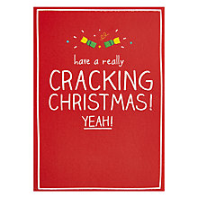 Buy Happy Jackson Cracking Christmas Card Online at johnlewis.com