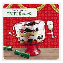Buy Paperlink A Trifle Squiffy Christmas Card Online at johnlewis.com