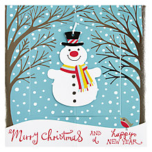 Buy Rachel Ellen Christmas Snowman Christmas Card Online at johnlewis.com