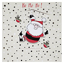 Buy Rachel Ellen Ho Ho Santa Christmas Card Online at johnlewis.com