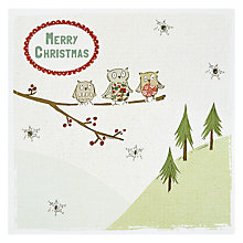 Buy Cherrychoc Three Little Owls Christmas Card Online at johnlewis.com