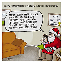 Buy Cartertoons Santa Therapy Christmas Card Online at johnlewis.com
