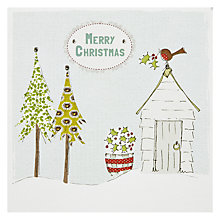 Buy Saffron Gift and Cards Robin Garden Shed Christmas Card Online at johnlewis.com