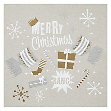 Buy Arctic Frost Merry Christmas Cracker Card Online at johnlewis.com