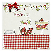 Buy Cherrychoc Trifle and Pudding Christmas Card Online at johnlewis.com