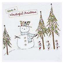 Buy Cherrychoc Snowman Christmas Card Online at johnlewis.com
