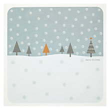 Buy Snowfall Blue Christmas Card Online at johnlewis.com