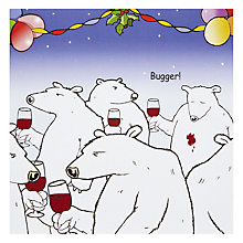 Buy Taking The Michael Polar Bear Christmas Card Online at johnlewis.com