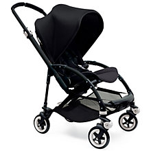 Buy Bugaboo Bee 3 Pushchair Base, Black Online at johnlewis.com