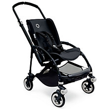 Buy Bugaboo Bee 3 Black Chassis and Grey set with Free Car Seat Online at johnlewis.com
