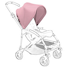 Buy Bugaboo Bee 3 Aluminium Pushchair Base bundle with Soft Pink Canopy and Footmuff Online at johnlewis.com